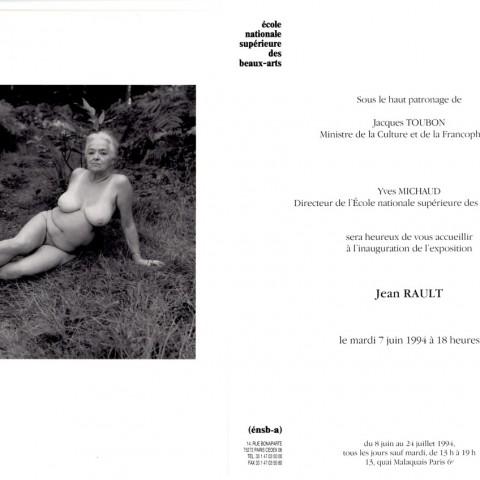 1994-Carton d'invitation Ecole Nale Sup. des Bx-Arts de Paris