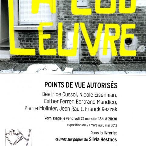 2013- Exposition à La Couleuvre