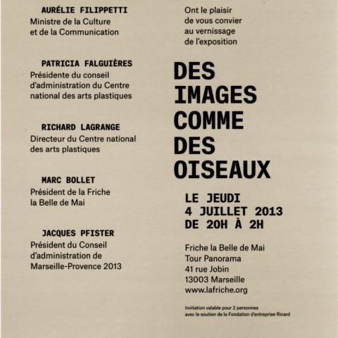 2013-Exposition CNAP-Marseille-verso