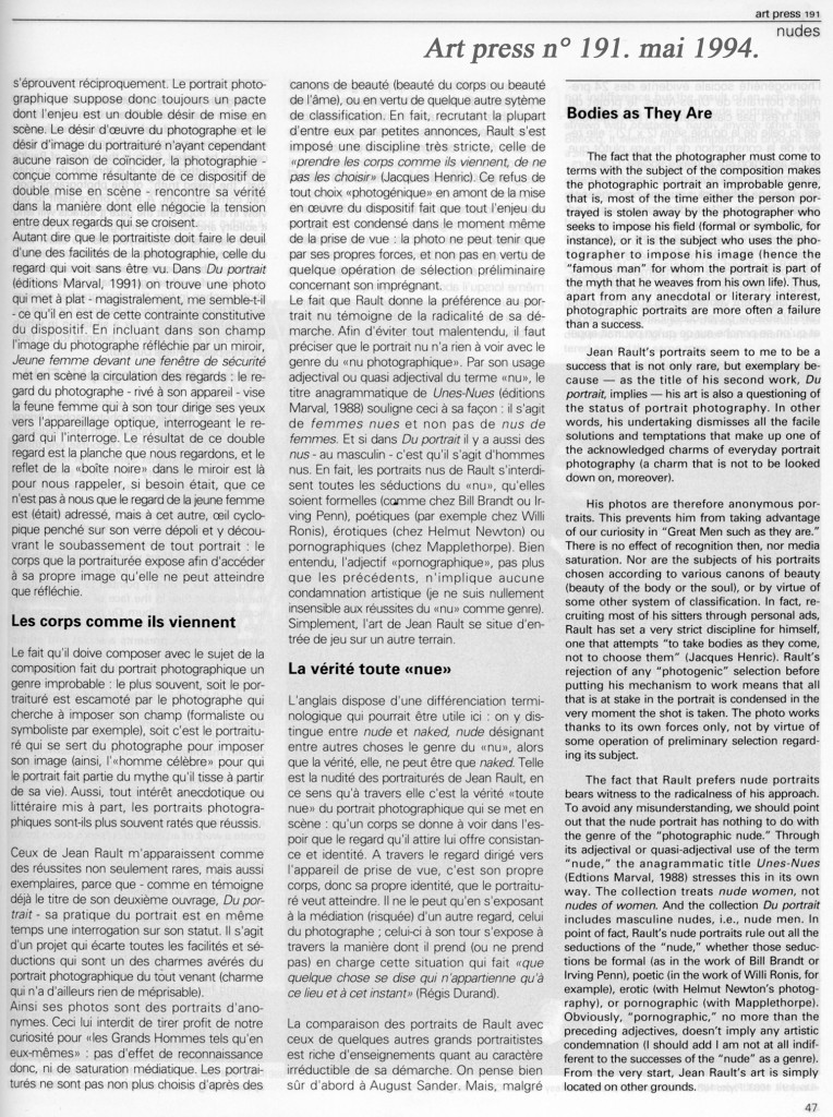 Jean Marie Schaeffer-Art Press mai 94 p. 2