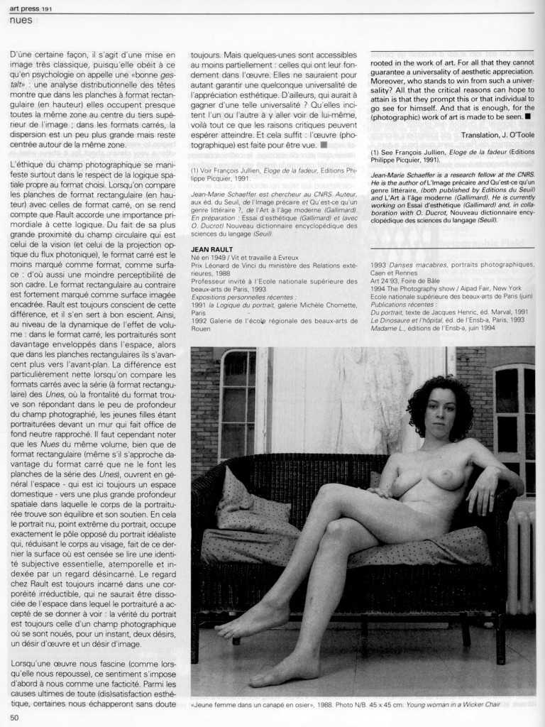 Jean Marie Schaeffer-Art Press mai 94 p. 5
