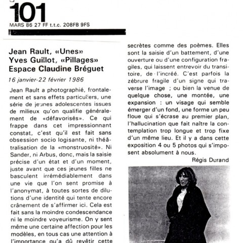 1986 03-Régis Durand-art press N°101