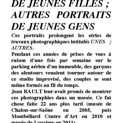 AUTRES PORTRAITS DE JF