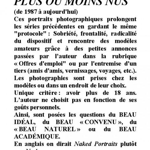 AUTRES PORTRAITS +OU-NUS