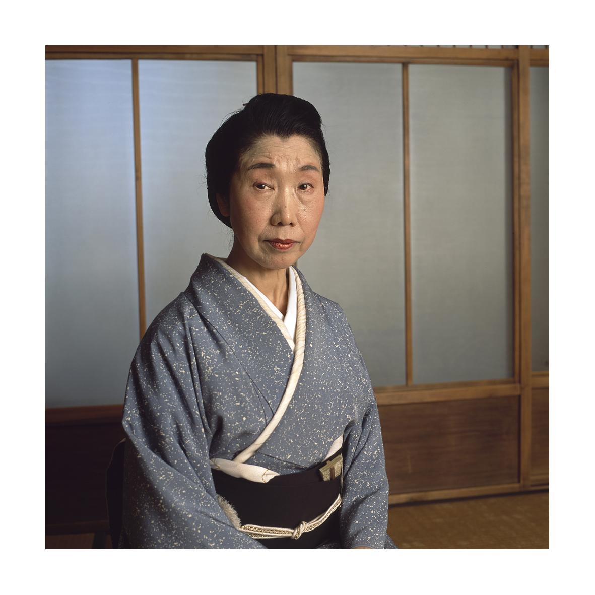 Madame Yamamura Rokusho, danseuse, dans une auberge, Kyoto, 2017