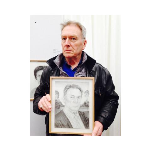 Jean Rault et son portrait par Anthony Vérot photographié par Bernard Garnier de Labareyre-Paris Grand Palais-2015