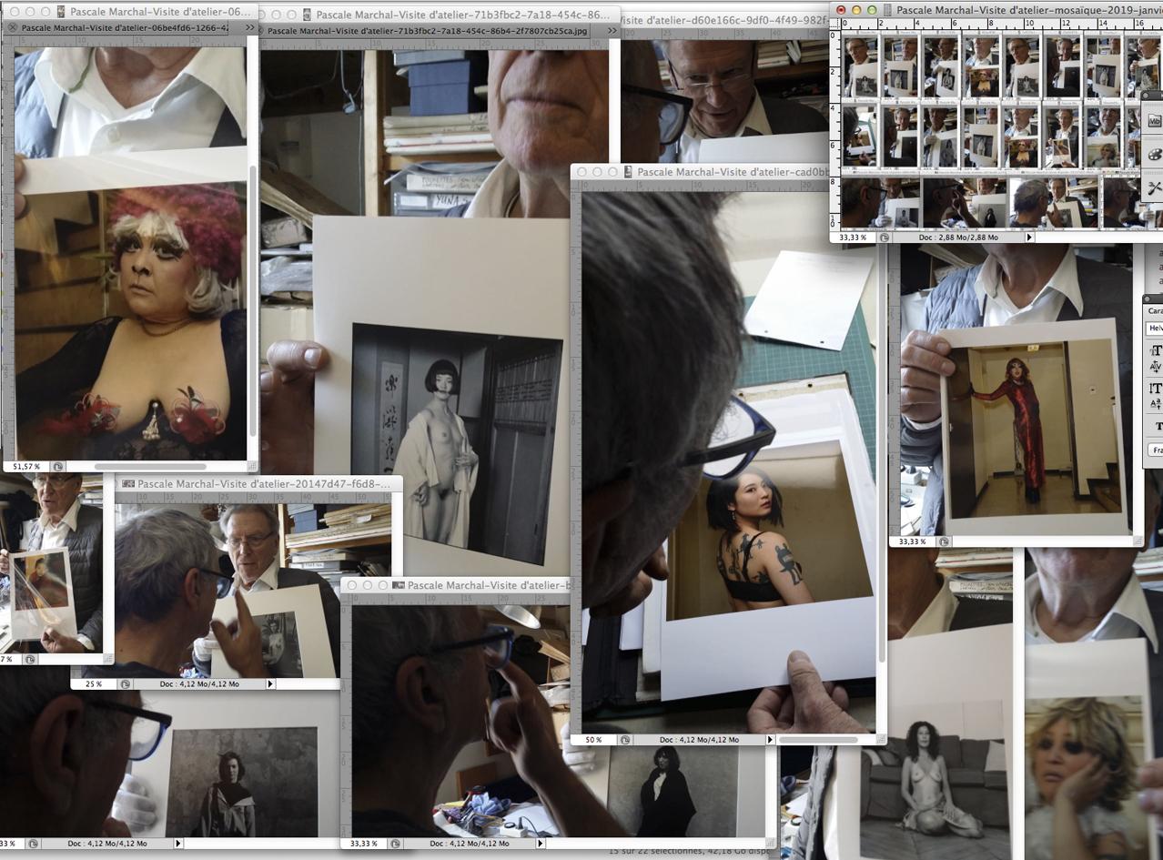 Pascale Marchal-Visite de l'atelier Jean Rault-Janvier 2019