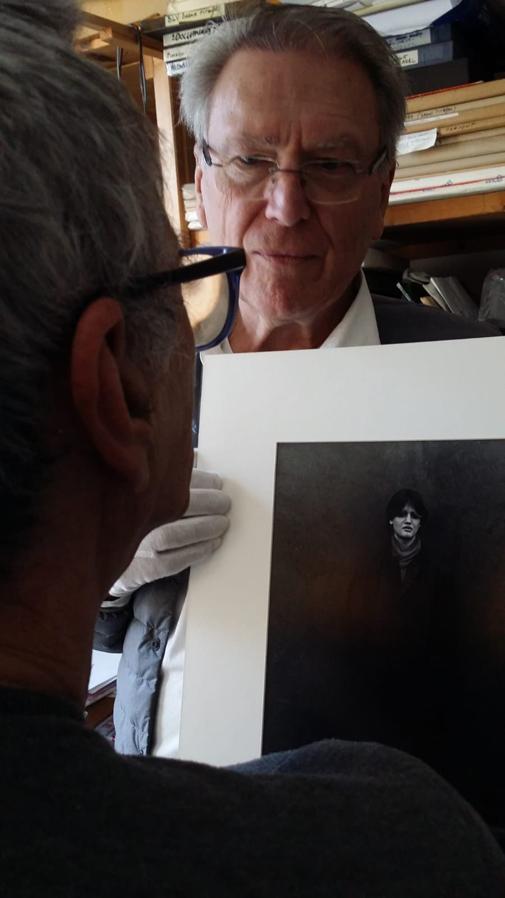 Pascale Marchal-Visite de l'atelier de Jean R. Galerie UNES