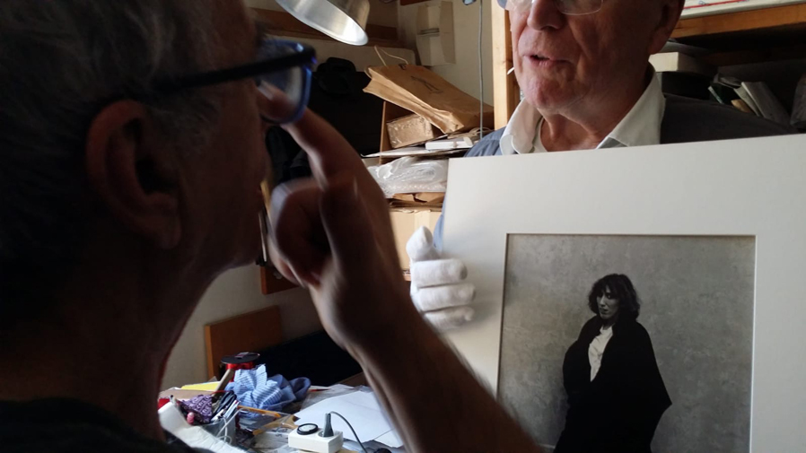 Pascale Marchal-Visite de l'atelier de Jean Rault-série UNES