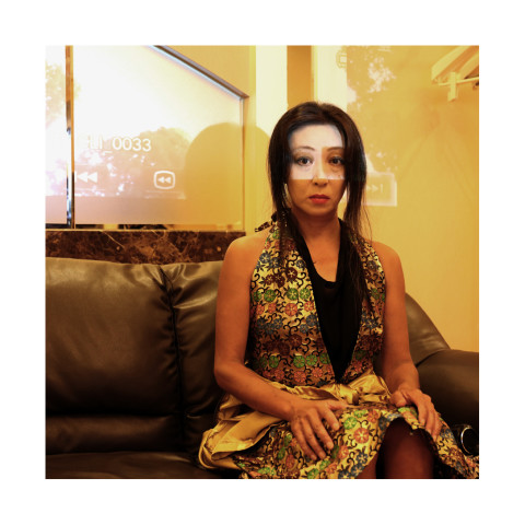 Young dark hair musician and video artist, Umeda, Osaka, Japan 2018 copie