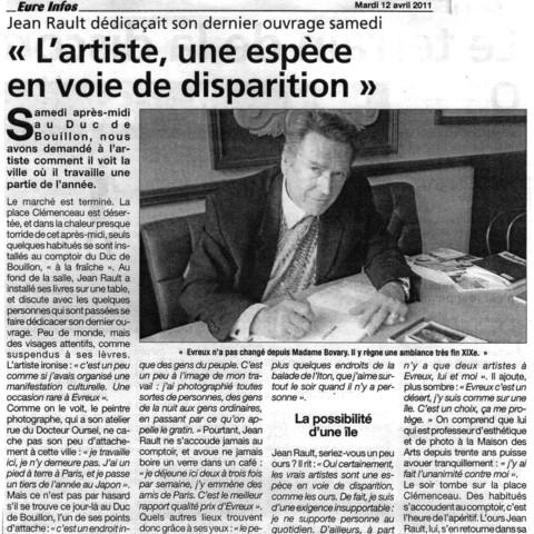 2011 04 12-L'artiste, une espèce en voie de disparition-Eure Infos 2011 04 12