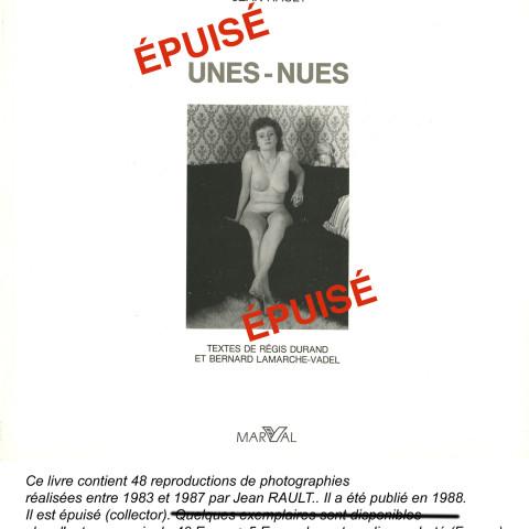 Couverture 1988-Unes-Nues-ÉPUISÉ